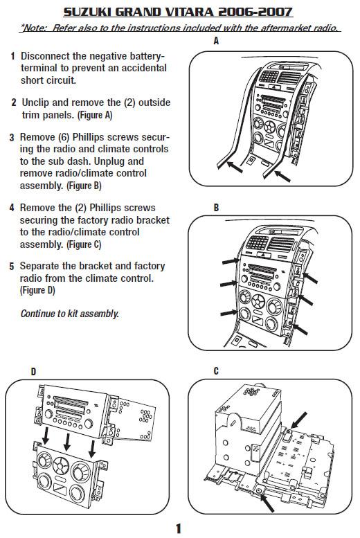 Cross Over Wire Diagram Suzuki Car Radio Stereo Audio Wiring Diagram Autoradio