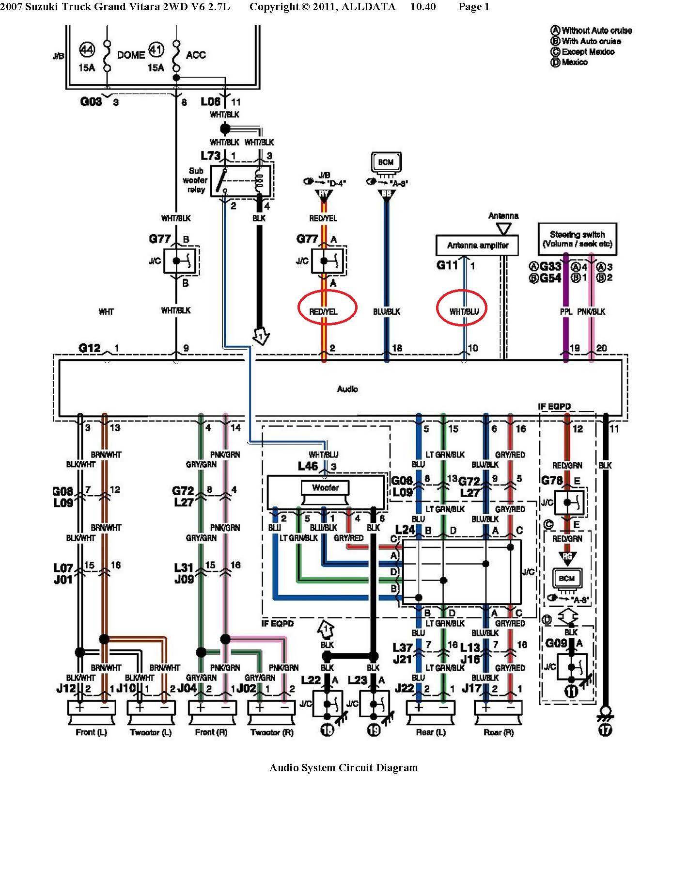 clarion stereo wiring diagram suzuki grand vitara auto electrical pioneer stereo  wiring colors clarion stereo wiring