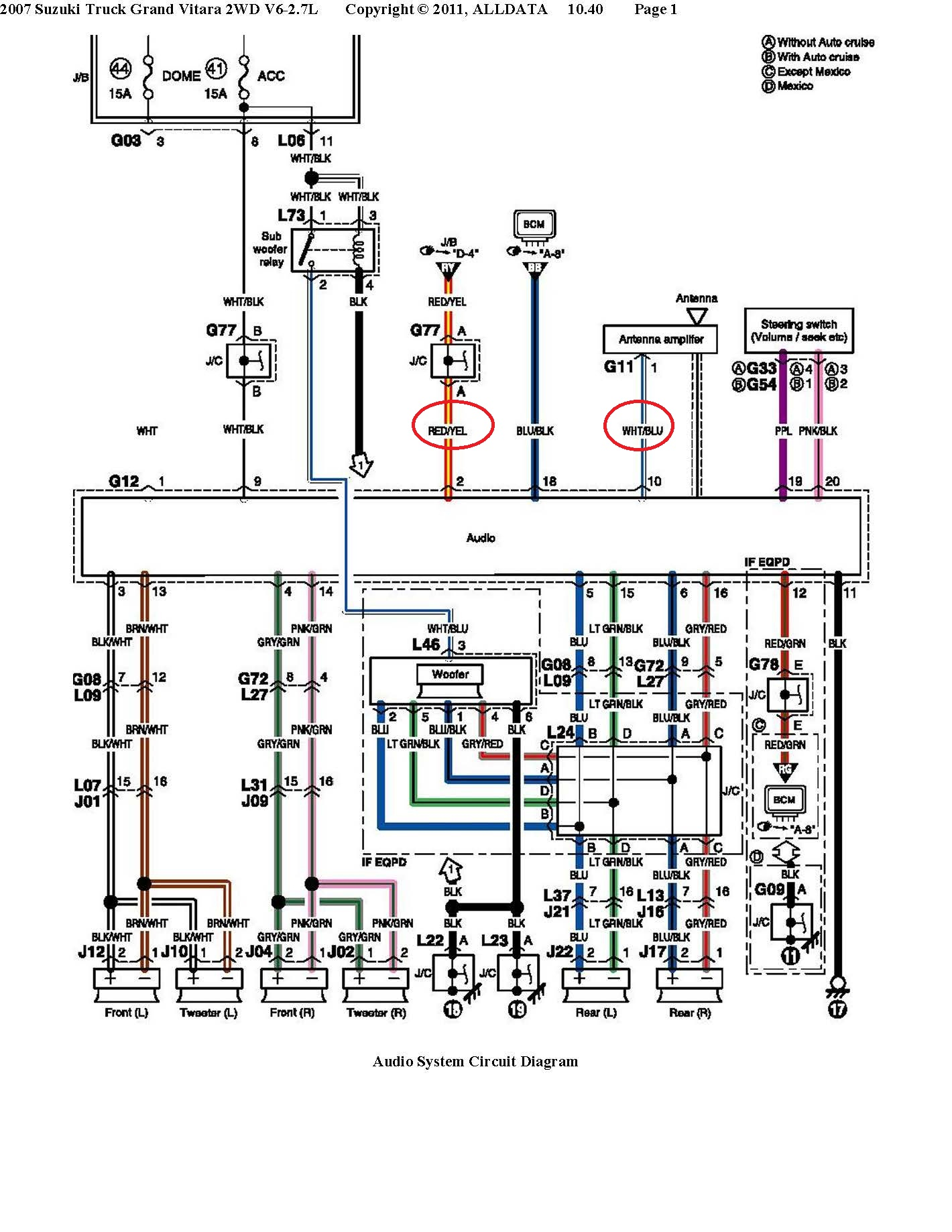 hight resolution of suzuki car radio stereo audio wiring diagram autoradio 2007 freightliner columbia wiring schematic 2005 freightliner columbia electrical diagram