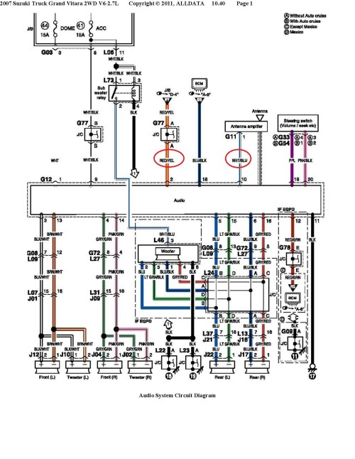 small resolution of suzuki car radio stereo audio wiring diagram autoradio 2007 freightliner columbia wiring schematic 2005 freightliner columbia electrical diagram