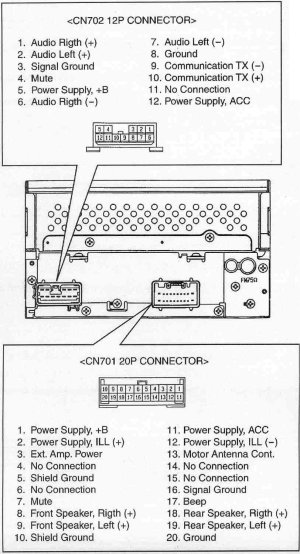 TOYOTA Car Radio Stereo Audio Wiring Diagram Autoradio