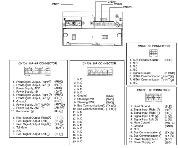 toyota fujitsu ten 86140 wiring diagram audio car radio stereo autoradio connector wire installation schematic ...