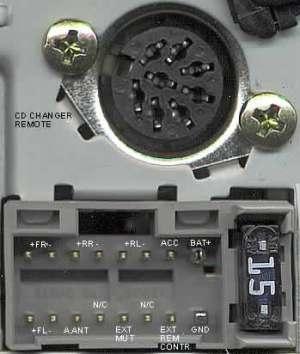 PANASONIC Car Radio Stereo Audio Wiring Diagram Autoradio connector wire installation schematic