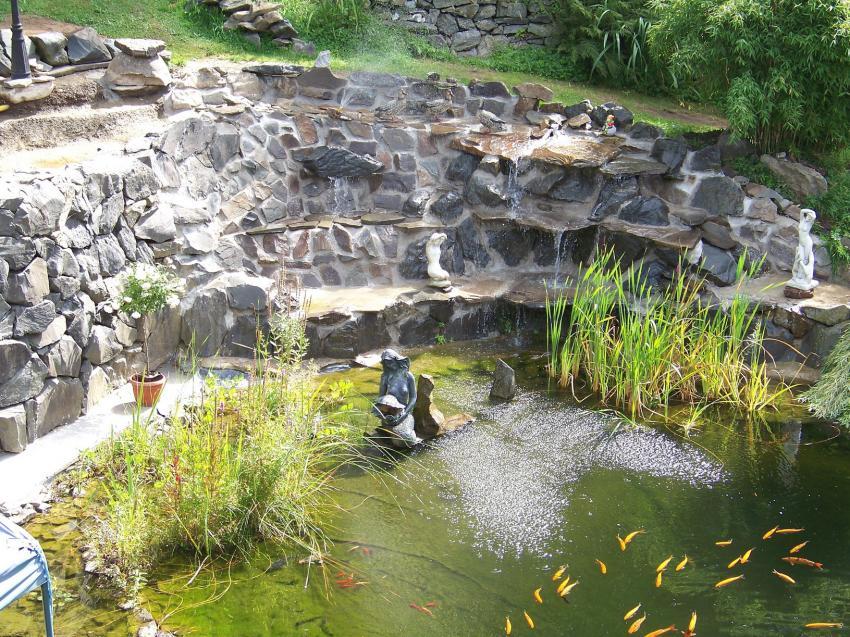Teich Mit Wasserfall Selber Bauen Gartenteich Mit