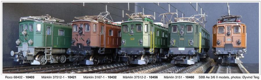 Roco and Märklin fronts