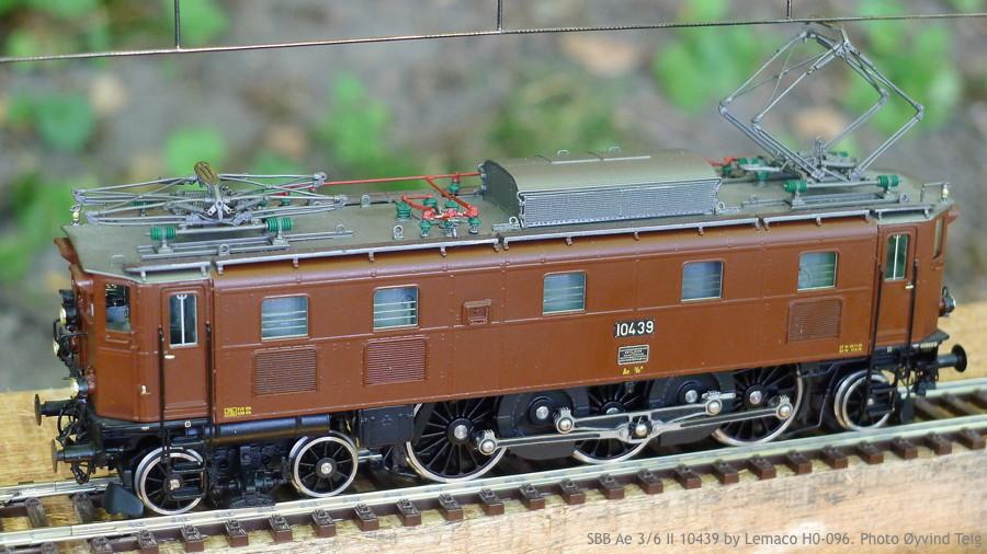 087 fig1 SBB Ae 3/6 II HO-096 by Lemaco. Photo Øyvind Teig