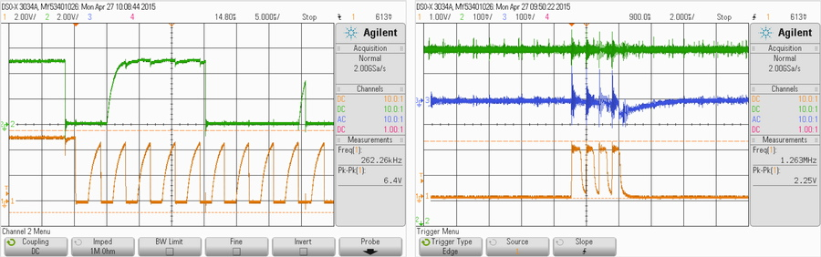 Oscilloscope screens