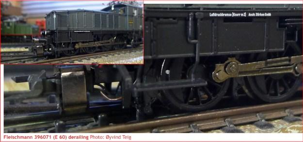 Fleischmann 396071 derailment off Märklin M-track