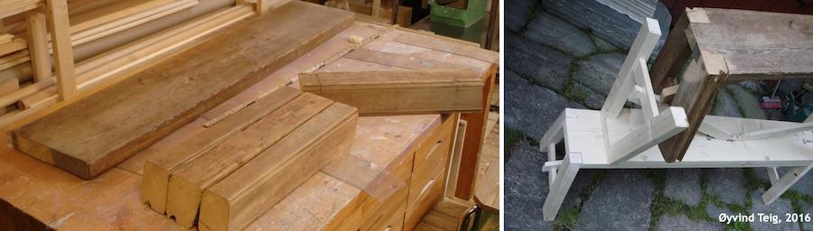 Gjenbruk av materialer fra vevstoler (2)