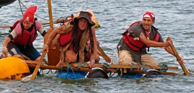 Teignmouth Regatta Raft Race. Priates..Avast, m'hearties