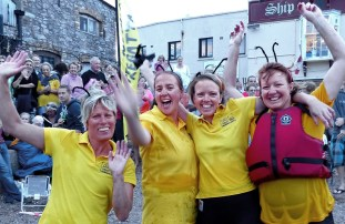 Teignmouth Regatta Raft Race; WINNERS. The Fishermens Daughters