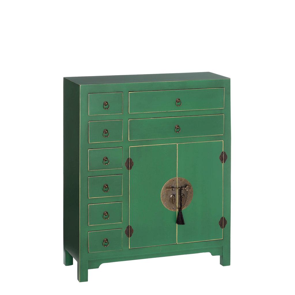 Mueble Oriental Verde 8 Cajones  Te Imaginas
