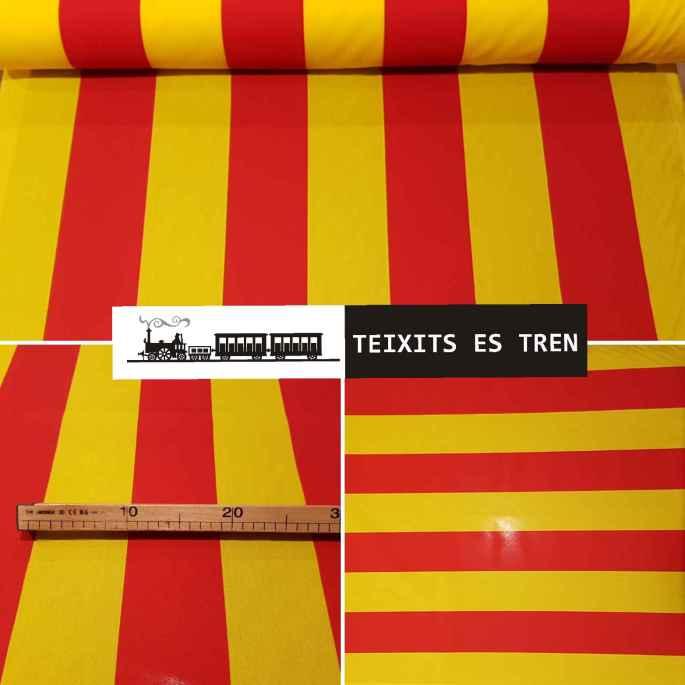 Bandera Catalana Cuatribarrada Señera ref. 001