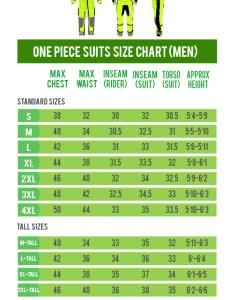 also size chart teiz motorsports custom motorcycle apparel rh teizms