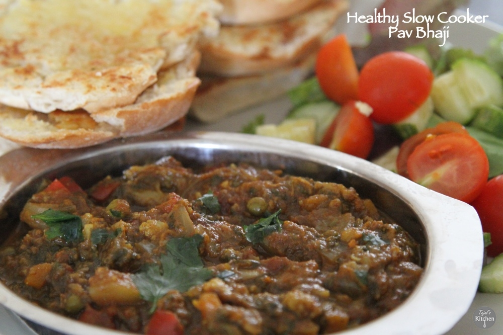 Healthy Slow Cooker Pav Bhaji