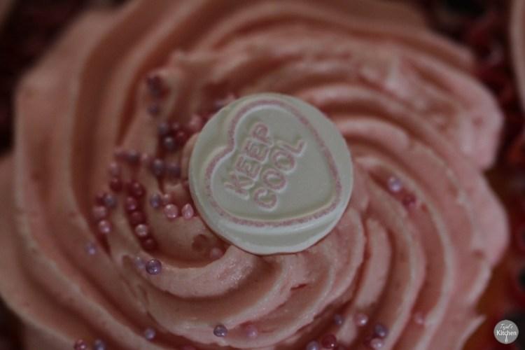 Vanilla Sprinkle Raspberry Cupcakes