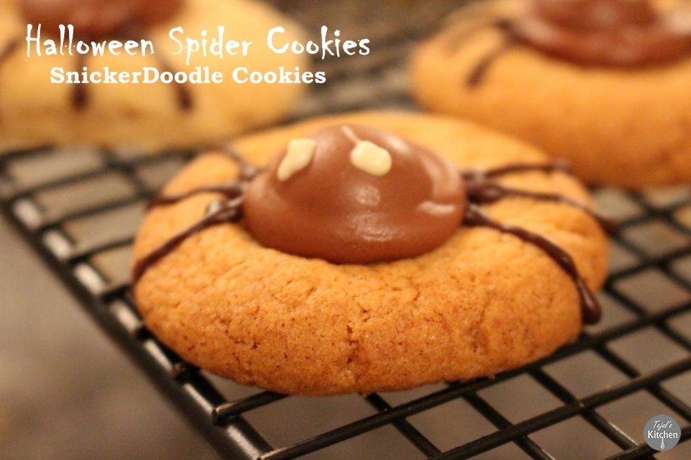 SnickerDoodle Spider Cookies