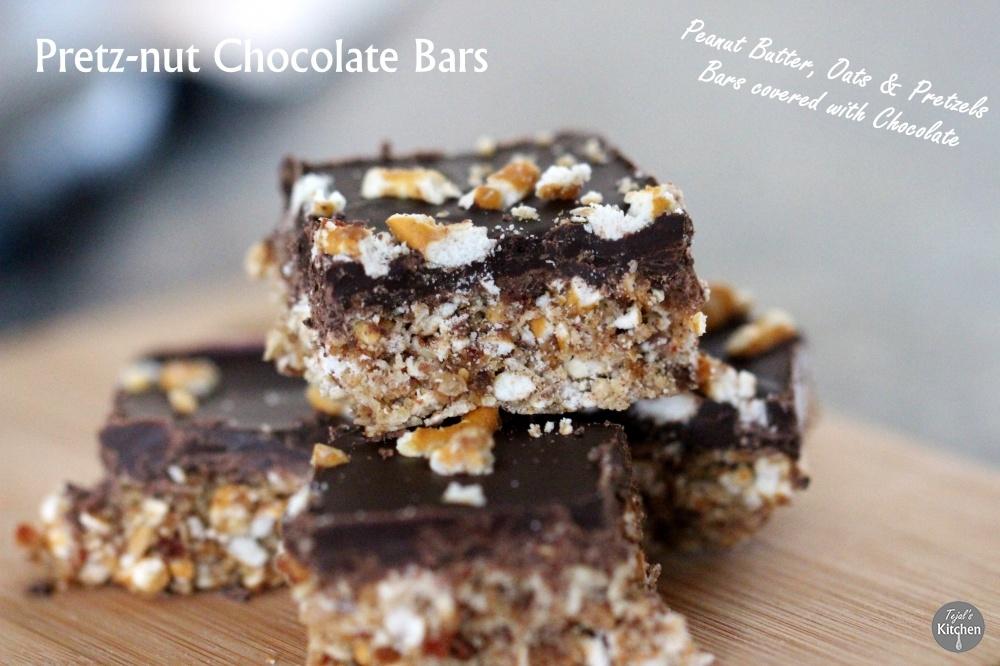 No Bake Pretz-nut Chocolate Bars