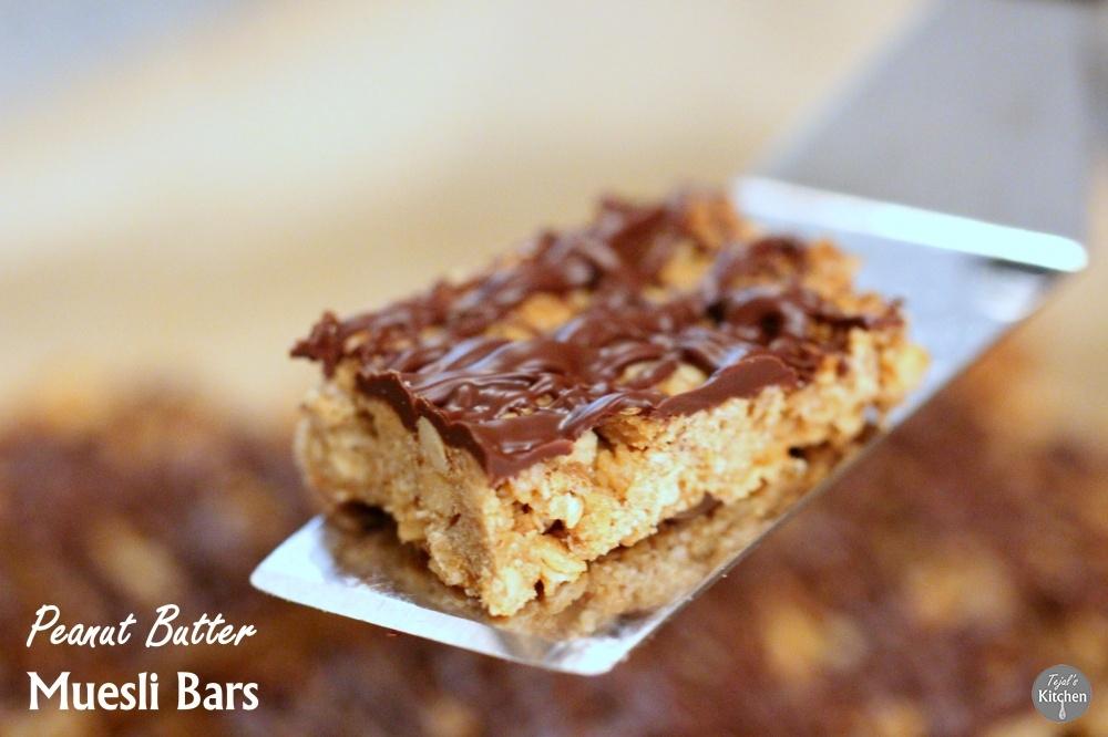 Peanut Butter Vegan Muesli Bars