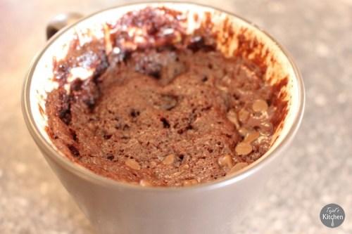 Nutella Mug Cake Eggless