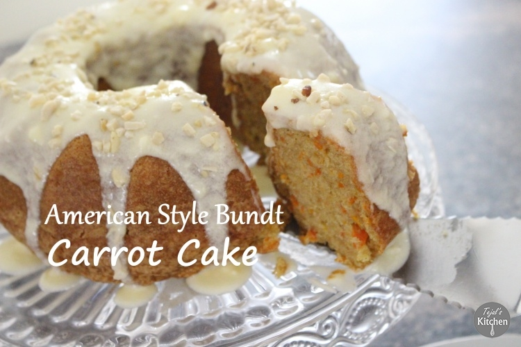 American Style Bundt Carrot Cake