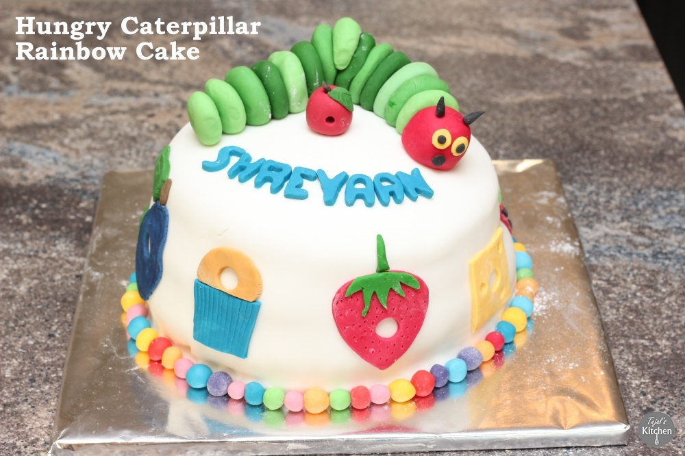 Hungry Caterpillar Rainbow Cake