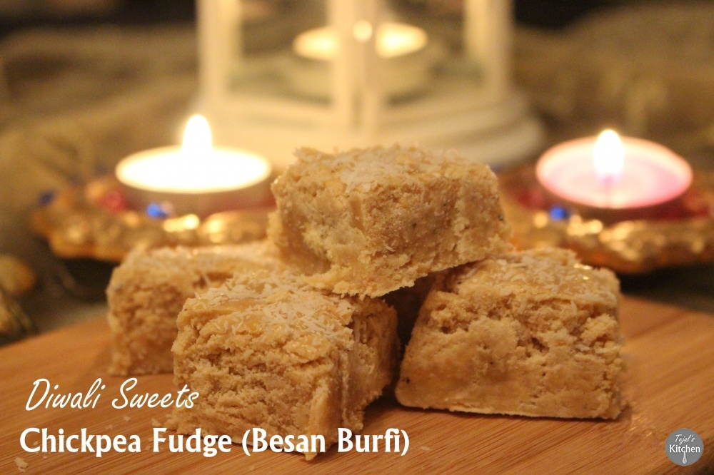 Chickpea Fudge ( Besan Burfi) Diwali Sweets