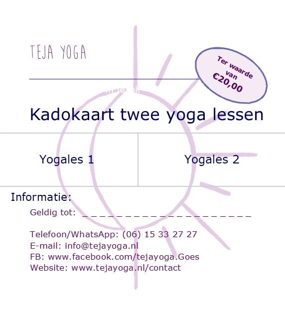 Cadeaubon 2 lessen teja yoga