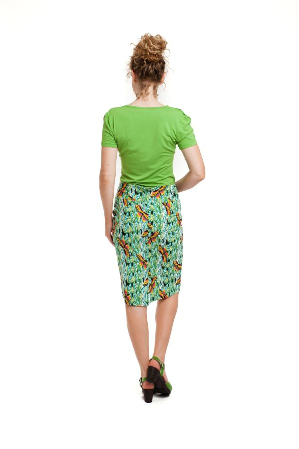 Bakery Ladies Drape T-Shirt Spinach Solid back