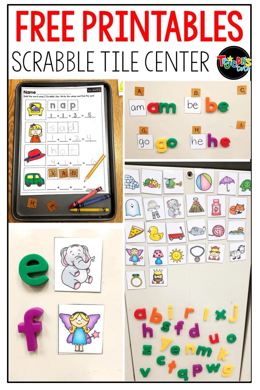 Scrabble Tiles For A Word Work Center