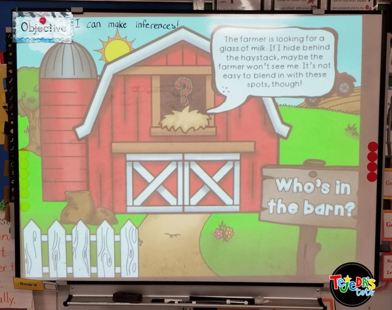 Students made inferences about farm animals with this PowerPoint slideshow, then created their own inference riddles. #tejedastots
