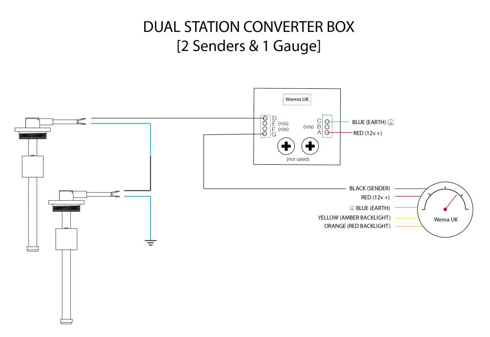 medium resolution of dual station 2 senders wiring diagram