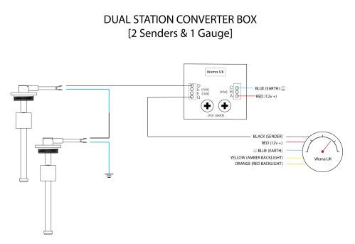 small resolution of dual station 2 senders wiring diagram