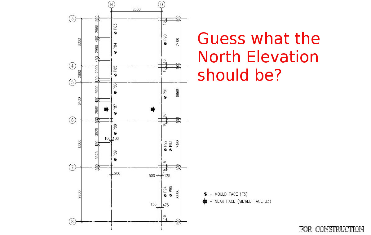 What Is A North Elevation East And West Elevations Explained Hvac Drawing Conventions This Plan Guess Which The