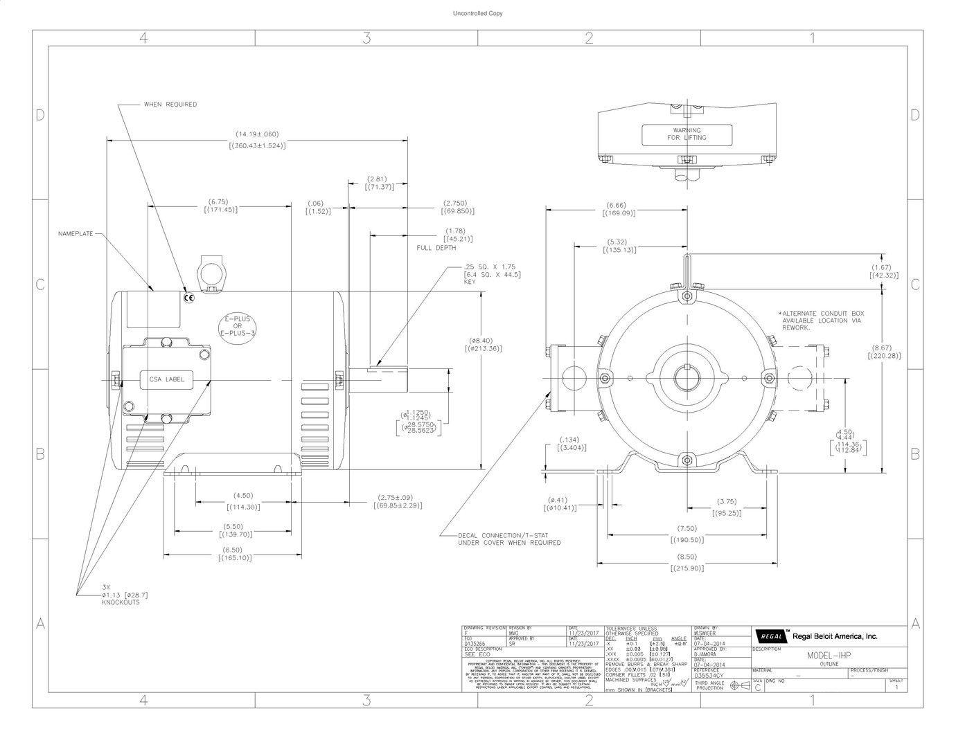 5KE184AC205, GE_Mars, 5HP, 200/460V, 3 Phase Motor