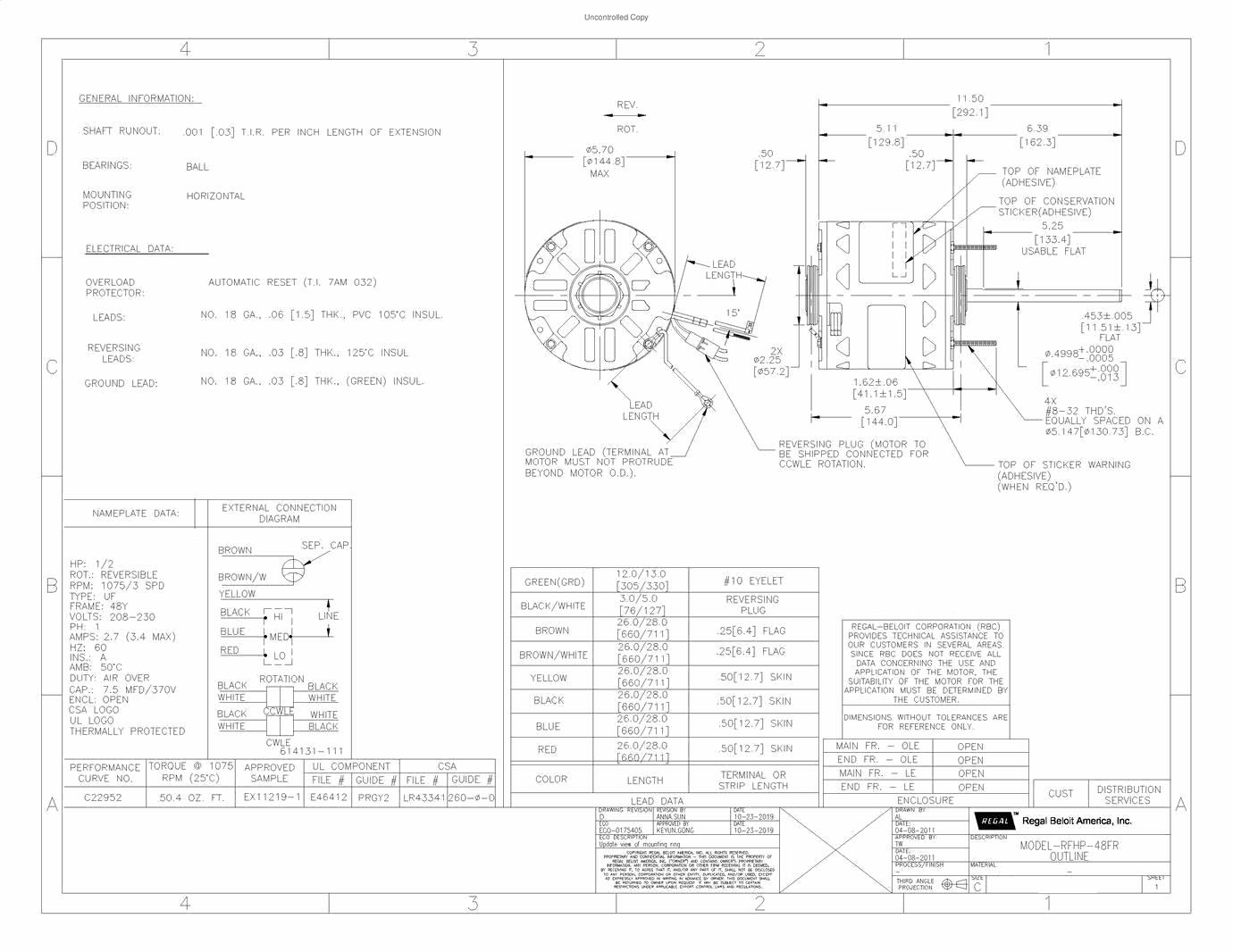 GE_Mars, 5KCP39LGG451S, Electric Motor