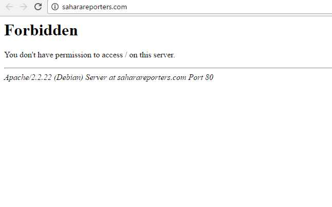 Popular Nigeria corruption buster SaharaReporters is down, now infested with Malware (updated)