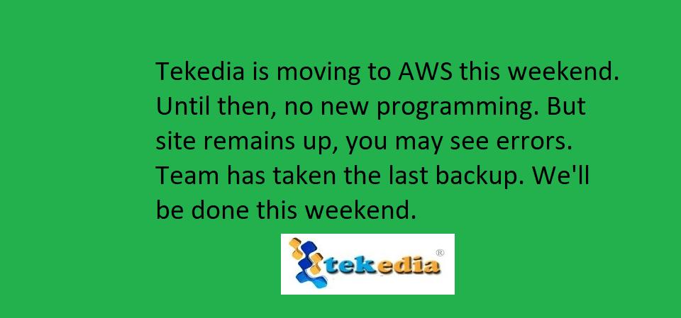 Tekedia Programming Notice