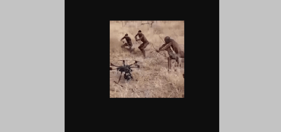 The Villagers Hunted The Drone [GIF]