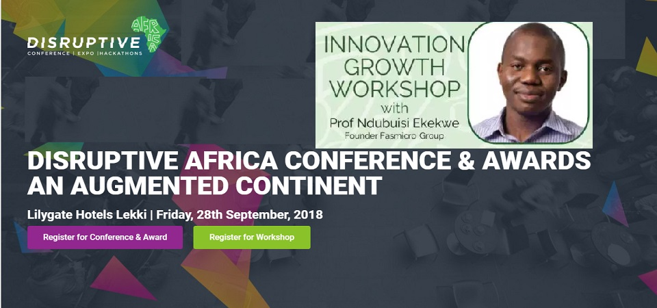 Use This Discount Code and Register for my Disruptive Africa's Innovation Workshop