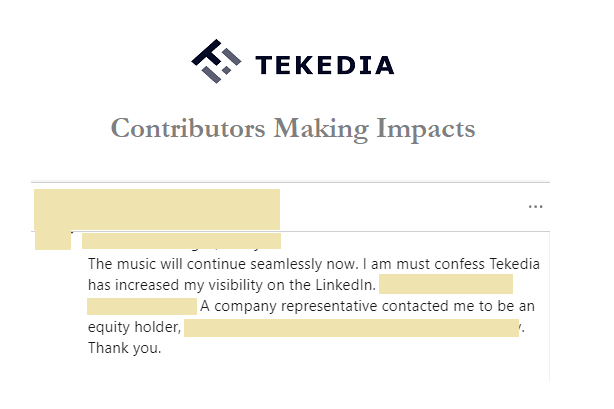Tekedia Contributor Gets a Board Offer with Equity; Send Your Articles