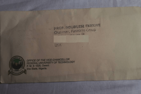 A Big Letter from Nigeria's Leading Technical University, FUTO
