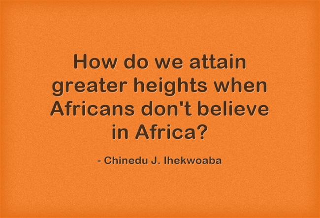 #BelieveInAfrica