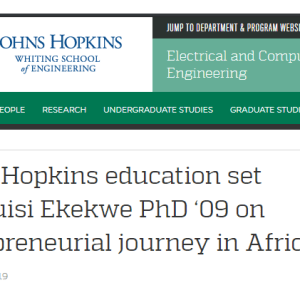 My interview with Johns Hopkins Engineering Magazine is Live