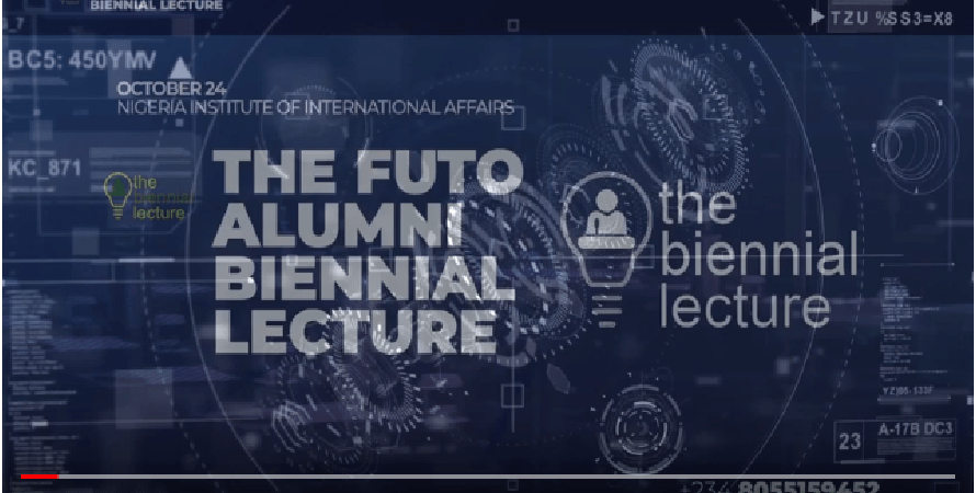 Attend FUTO Alumni Biennial Lecture – Oct 24th, Lagos [Video]
