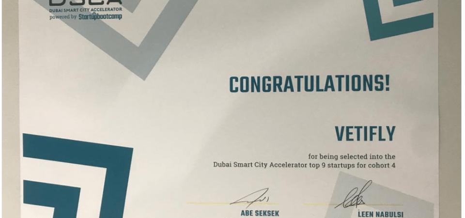 Vetifly Accepted Into Dubai Smart City Accelerator