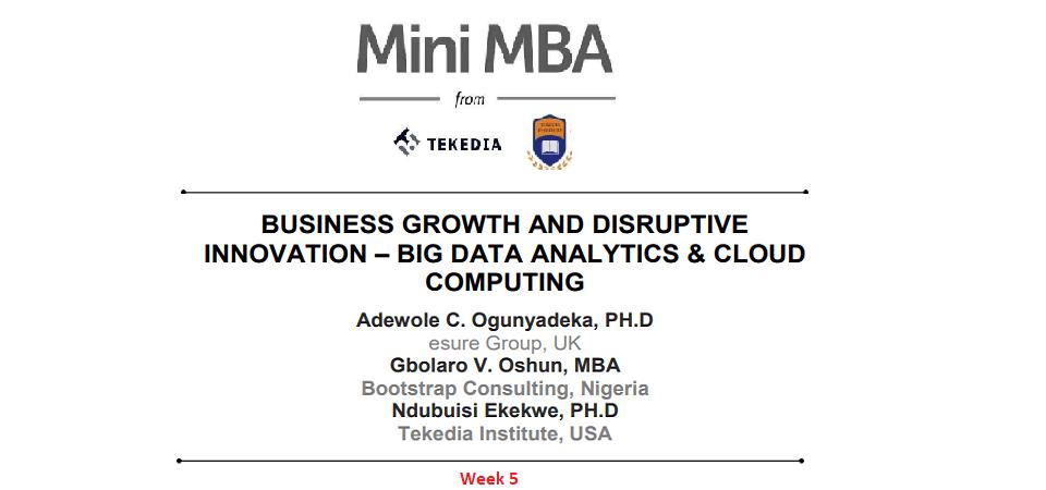 Tekedia Mini-MBA: Week 5 Contents Are Live