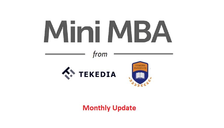 Tekedia Mini-MBA Monthly Update