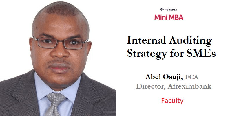 A Fellow of Chartered Accountants To Teach Auditing Strategy in Tekedia Mini-MBA