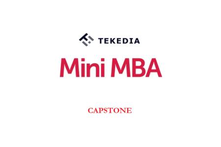 Capstone for Tekedia Mini-MBA Certificate Courses